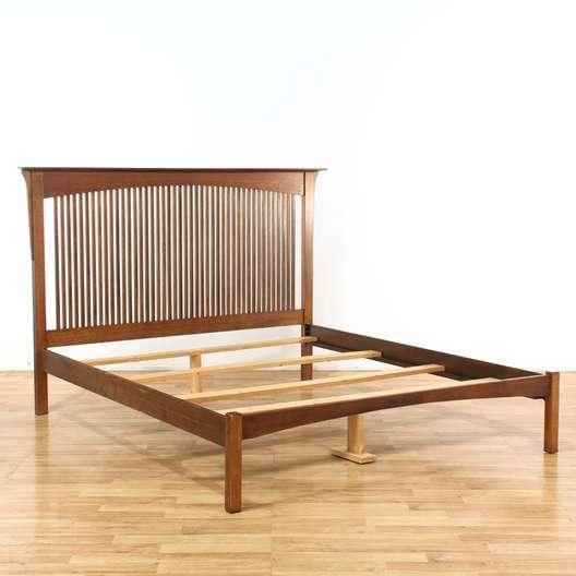King Size Mission Style Bed Frame Loveseat Vintage Furniture Los