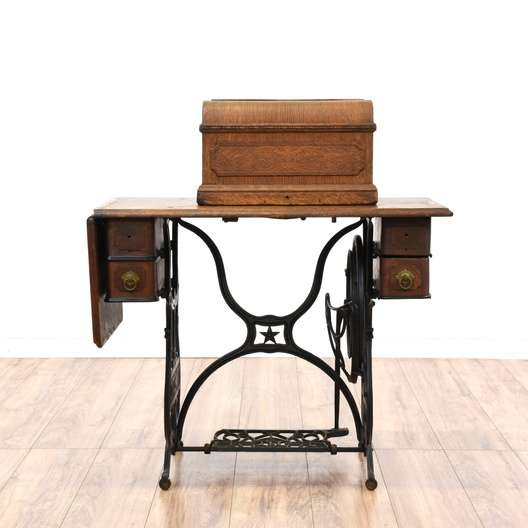 Quot Domestic Quot Treadle Sewing Machine Cabinet Loveseat