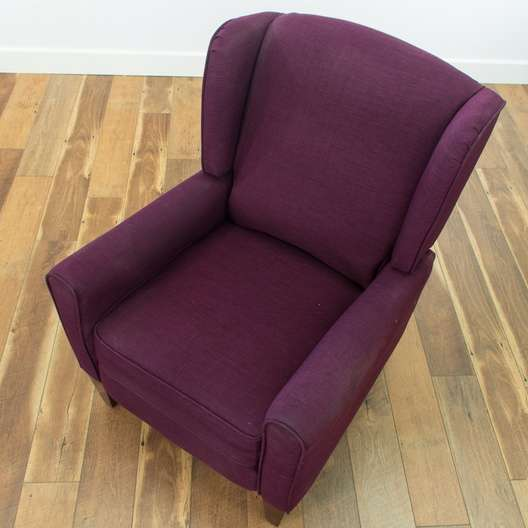 Super Contemporary Plum Reclining Wingback Armchair Loveseat Com San Diego Ncnpc Chair Design For Home Ncnpcorg