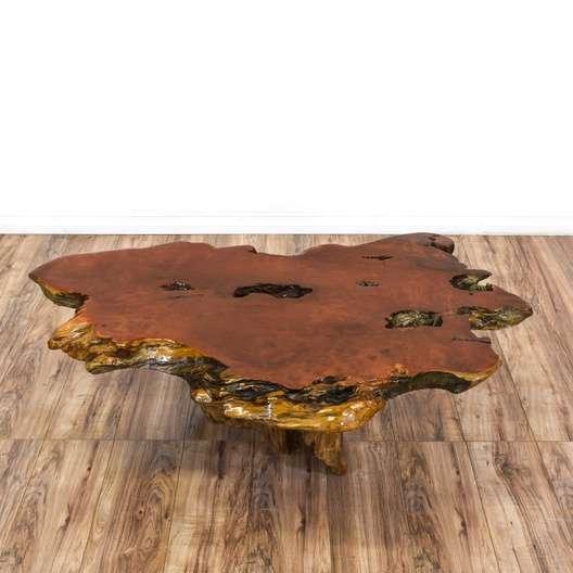 Redwood Burl Slab Coffee Table Loveseat San Go