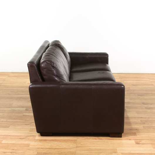 Incredible Design Within Reach Chocolate Leather Couch Loveseat Pabps2019 Chair Design Images Pabps2019Com