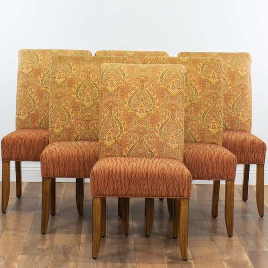 Surprising Set Of 6 Contemporary Corduroy Paisley Dining Chairs Alphanode Cool Chair Designs And Ideas Alphanodeonline
