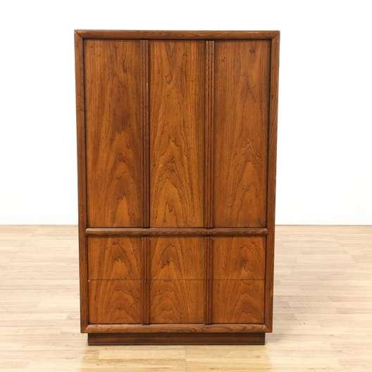 henredon mid century modern wardrobe armoire loveseat vintage