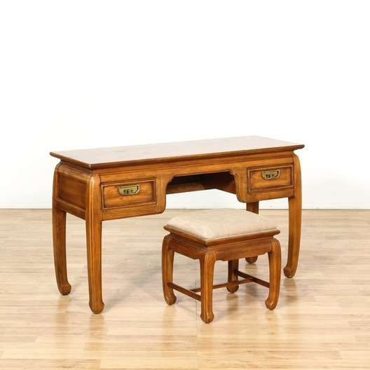 Outstanding Mid Century Modern Chinese Desk Bench Loveseat Vintage Gmtry Best Dining Table And Chair Ideas Images Gmtryco