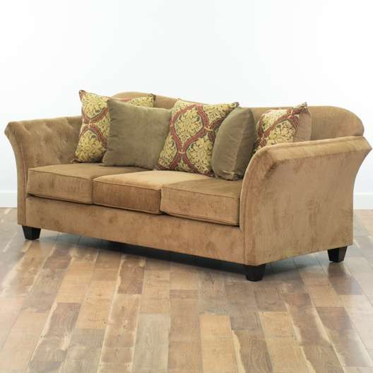 Admirable Contemporary Brown Microfiber Sofa Loveseat Vintage Gmtry Best Dining Table And Chair Ideas Images Gmtryco