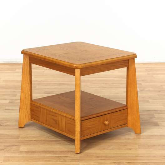 Fine End Table W Bottom Drawer 1 Loveseat Com La Auction Pdpeps Interior Chair Design Pdpepsorg