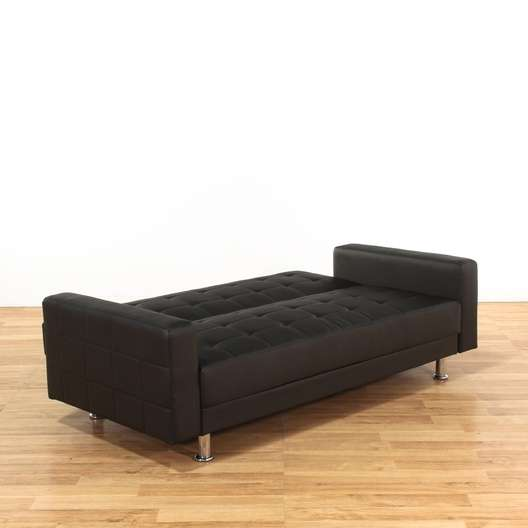 Groovy Wade Logan Spirit Lake Black Vinyl Sleeper Sofa Loveseat Dailytribune Chair Design For Home Dailytribuneorg