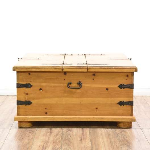 Trunk Coffee Table Pine: Pine Coffee Table Trunk W/ Storage