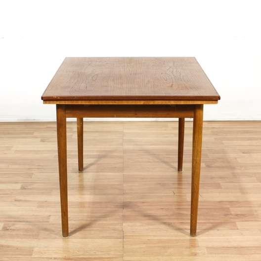 Danish modern dining table w pull out leaves loveseat for Danish modern la