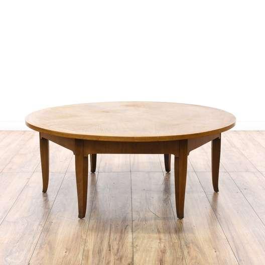 Round Mid Century Modern Coffee Table Loveseat Vintage Furniture