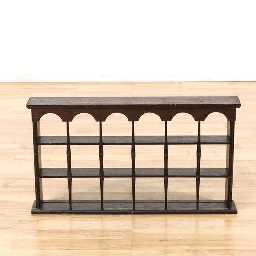 Dark Wood Gothic Hanging Wall Shelf