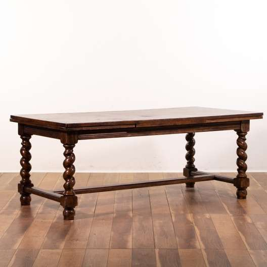 Surprising Jacobean Barley Twist Dining Table W Pull Out Leaves Loveseat Com La Auction Caraccident5 Cool Chair Designs And Ideas Caraccident5Info