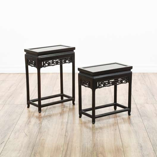 Cleaning of black lacquer asian furniture young