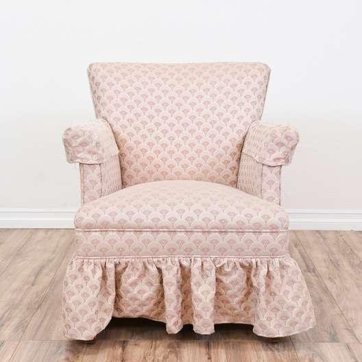 Light Pink Armchair W Skirt