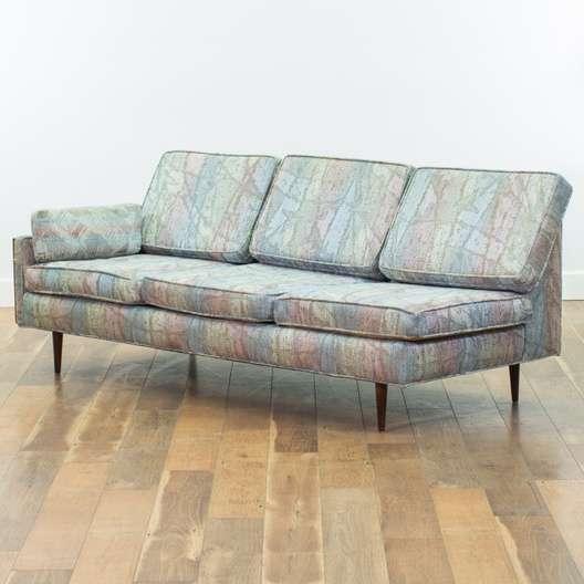 Mid Century Modern Rainbow Sectional Sofa & Ottoman | Loveseat.com San Diego