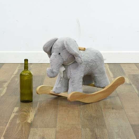 Pottery Barn Plush Elephant Rocker Loveseat Vintage