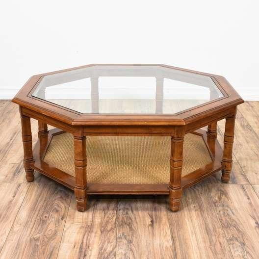 Octagon Gl Top Coffee Table Loveseat San Go