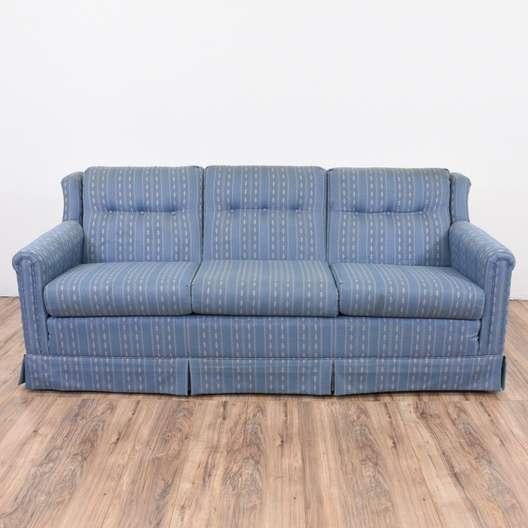 Quot La Z Boy Quot Blue Striped Sofa Loveseat Vintage Furniture
