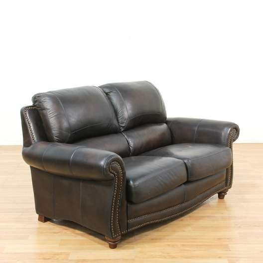 Leather Sofas In Los Angeles: Oversized Espresso Leather Sofa W/ Nailhead Trim