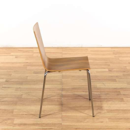 Set Of 6 Eames Style Pine Dining Room Chairs