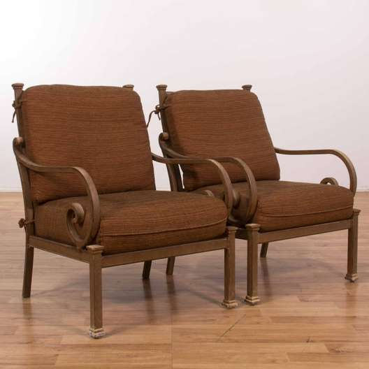 Marvelous Pair Of Broyhill Indoor Outdoor Chairs W Cushions Loveseat Machost Co Dining Chair Design Ideas Machostcouk