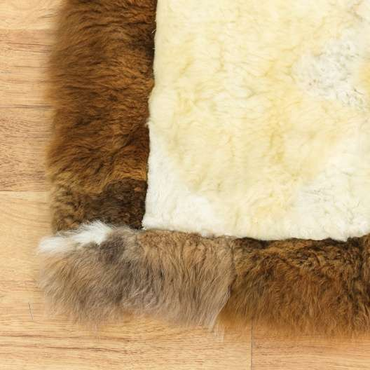 Small Rectangular Alpaca Fur Rug Loveseat Vintage