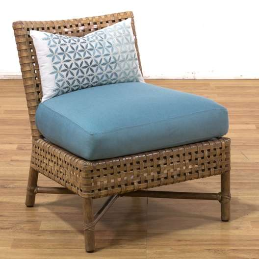Mcguire Leather Amp Bamboo Slipper Accent Chair 1 Loveseat