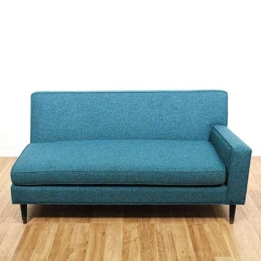 Newly Reupholstered Blue Mid Century Modern Sofa 2 | Loveseat.com Los  Angeles