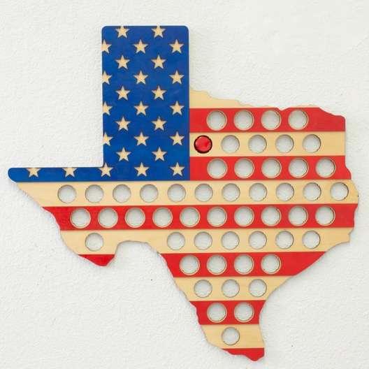 Texas American Flag Bottle Cap Holder  8526f0355