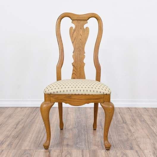 Phenomenal Set Of 4 Honey Oak Queen Anne Dining Chairs Loveseat Dailytribune Chair Design For Home Dailytribuneorg