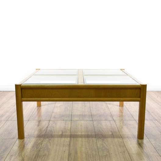 """""""Thomasville"""" Glass Top Square Coffee Table"""