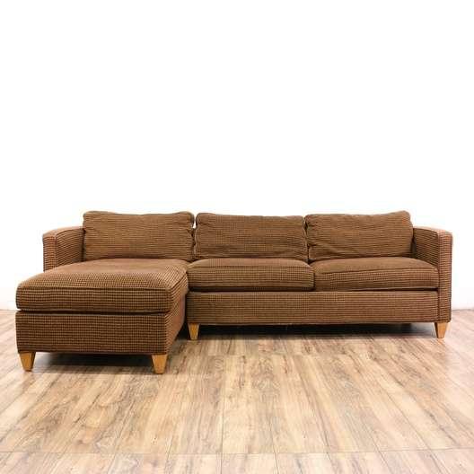 """Ethan Allen"" Mid Century Modern Sofa W/ Chaise"