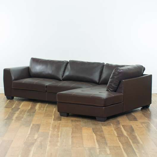 Pellissima Italian Brown Leather Sectional Sofa | Loveseat.com San Diego