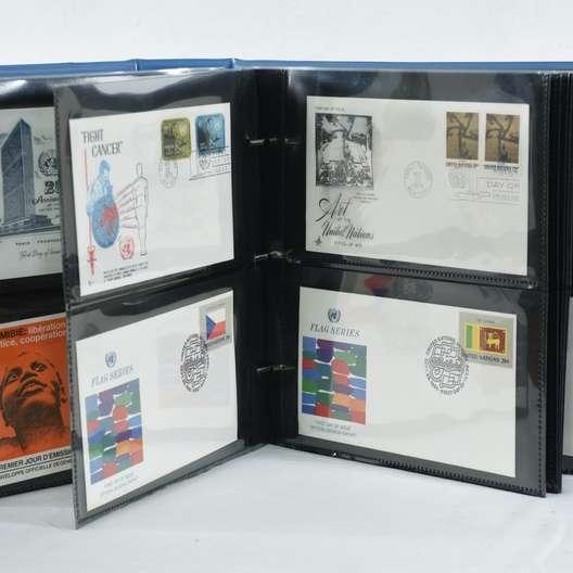 Large Vintage Stamp Collection Loveseat Vintage