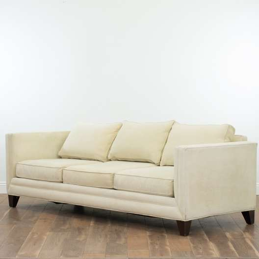 Strange Contemporary Cream Microfiber Sofa Loveseat Vintage Gmtry Best Dining Table And Chair Ideas Images Gmtryco
