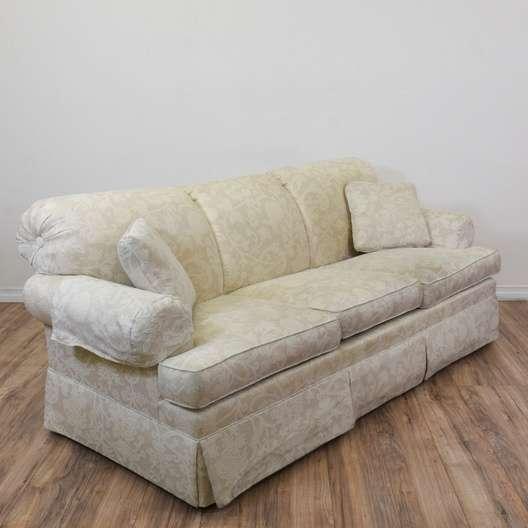 Ethan Allen White Fl Sofa