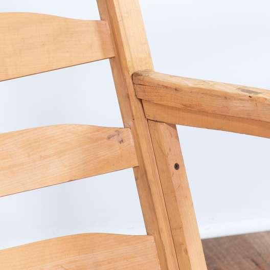 Excellent Shaker Rush Seat Ladder Back 3 Seater Sofa Bench Loveseat Com La Auction Creativecarmelina Interior Chair Design Creativecarmelinacom
