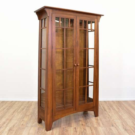 Ethan Allen Mission Style Armoire Display Case
