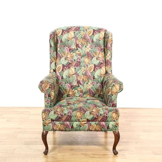 Floral Wingback Arm Chair 2 Loveseat Vintage Furniture Los Angeles