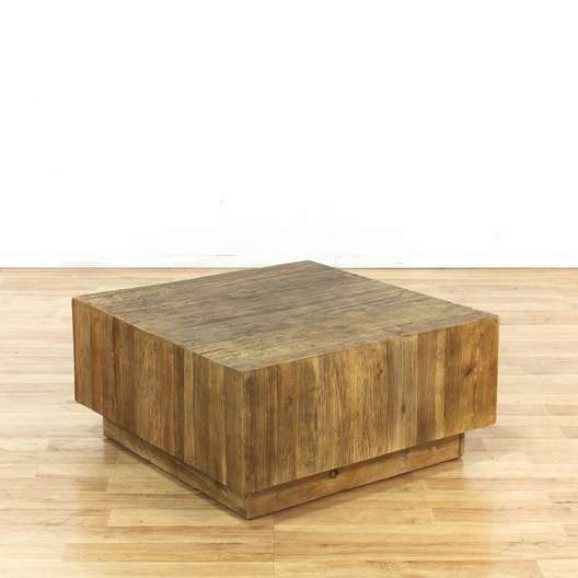 West Elm Plank Modern Square Coffee Table Loveseat Vintage - West elm square table