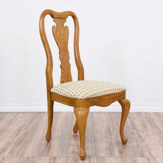 Swell Set Of 4 Honey Oak Queen Anne Dining Chairs Loveseat Dailytribune Chair Design For Home Dailytribuneorg