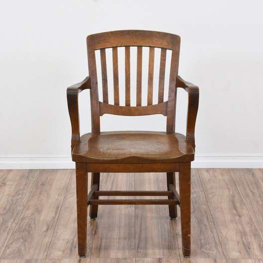 "Furniture Outlet Milwaukee: ""Milwaukee Chair Co."" Antique Oak Desk Chair"