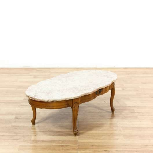 Marble Coffee Table Online: French Provincial Pink Marble Top Coffee Table