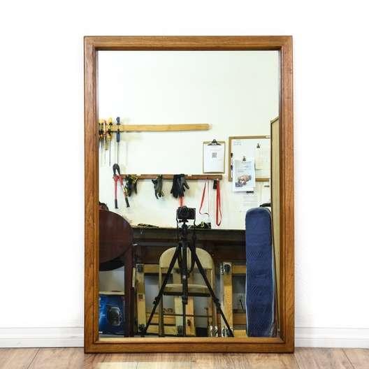 Large Oak Framed Mirror | Loveseat Vintage Furniture San Diego