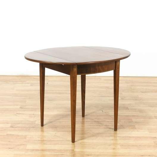 Ethan Allen Round Drop Leaf Fl Dining Table Loveseat