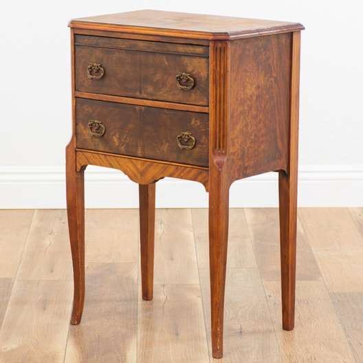 Antique Sewing Cabinet End Table Loveseat Vintage Furniture San