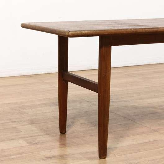 Storage Coffee Tables Los Angeles: Danish Modern Teak Long Coffee Table