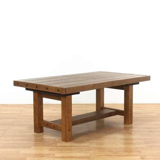 Loon Peak Etolin Extendable Rustic Dining Table Loveseat Vintage