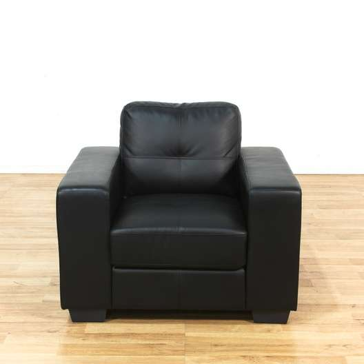 Quot Pellissima Quot Modern Black Italian Leather Armchair 2