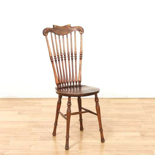 Antique spindleback wood chair 2 loveseat vintage for Reclaimed wood furniture los angeles